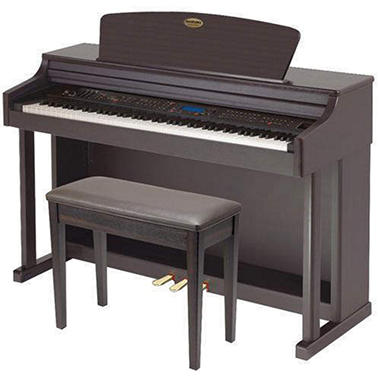SUZUKI HP-99rw Upright Composer Ensemble Digital Piano with Matching Bench (Dark Rosewood finish)