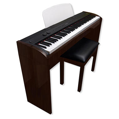 SUZUKI SL-1rw Digital Studio Piano with Matching Bench (Dark Rosewood finish)
