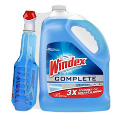 Windex Complete Glass & Multi-Surface Cleaner (32 oz. trigger spray + 128 oz. refill)