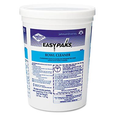 Easy Paks Bowl Cleaner/Water-Soluble Packs- .5oz Packets/Tub - 90 Count