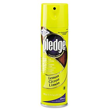 Pledge Lemon Furniture Polish - 17.7 oz.