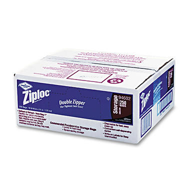 Ziploc Double Zipper 1 Gallon Storage Bags - 250 pk.