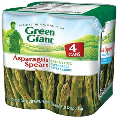 Green Giant® Asparagus Spears - 4/15 oz. cans