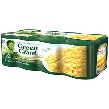 Green Giant Whole Kernel Sweet Corn - 15.25 oz. cans - 8 pk.