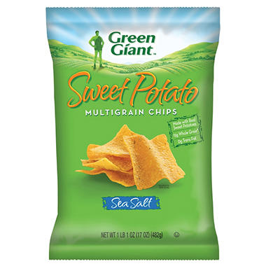Green Giant Sweet Potato Multigrain Chips - 17 oz.