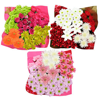 Holiday Bouquet Pallets