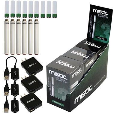 Mistic 3 Green Electronic Cigarette Kit  - Menthol Flavor - 3 pk.