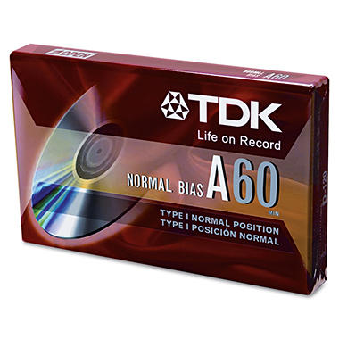 TDK - Standard Grade Audio & Dictation Cassette, Normal Bias - 60 Minutes (30 x 2)