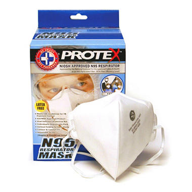 Protex N95 Respirator Mask - Latex Free - 20 pack