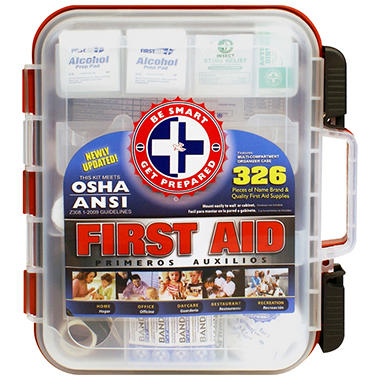 Be Smart Get Prepared First Aid Kit (326 pcs.)