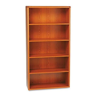 HON - 10700 5-Shelf Bookcase - Henna Cherry
