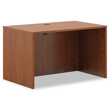 basyx by HON - BL Laminate Series Rectangular Desk Shell - Medium Cherry