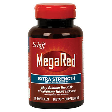 Schiff - MegaRed Extra Strength 500mg Omega-3 Krill Oil - 80 softgels
