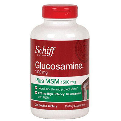 Schiff - Glucosamine Plus MSM - 200 Tablets
