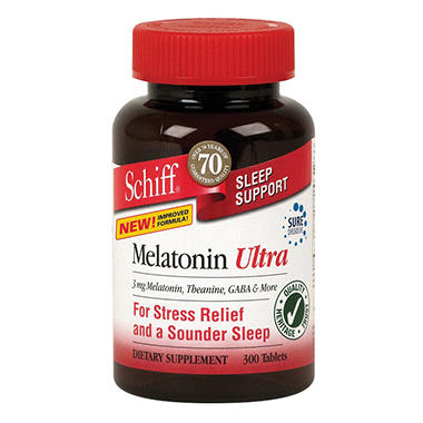 Schiff Melatonin Ultra Sleep Support Tablets - 300 ct.