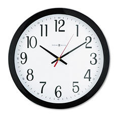 "Howard Miller Gallery 16"" Wall Clock, Black"
