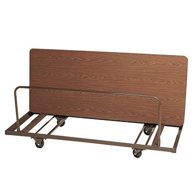 Correll 6' Edge Stacking Table Truck, Walnut Brown