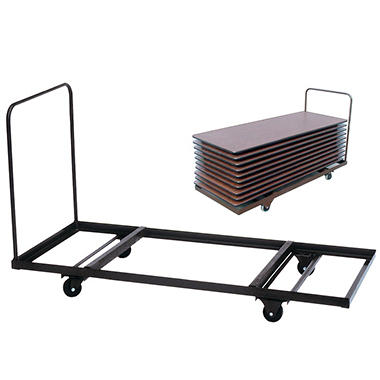 "Correll Flat Stacking Table Cart - 36"" x 72"""