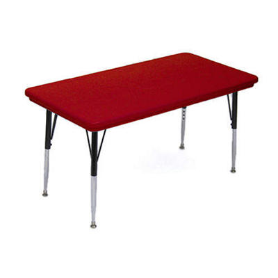 "Correll Rectangle Plastic Activity Table - 30"" x 60"" - Various Colors"