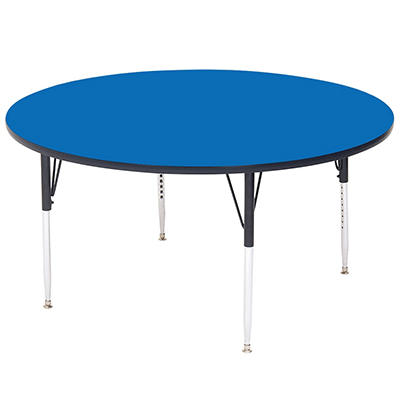 "Round School Activity Table - 48"" - 21"". to 30""."