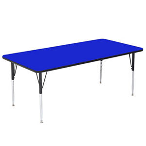 "Correll 48"" x 24"" Rectangle-Shaped Activity Table, Select Color"