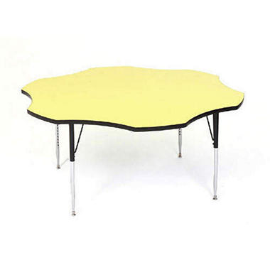 Correll 5' Flower-Shaped Activity Table, Select Color