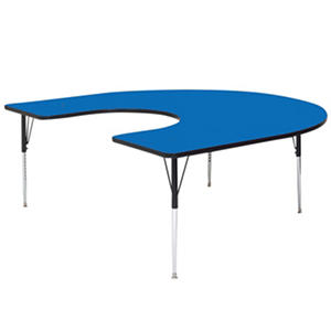 Correll Horseshoe-Shaped Activity Table, Select Color