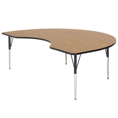 "Kidney-Shaped Table - 48"" x 72"" - Various Colors and Heights"