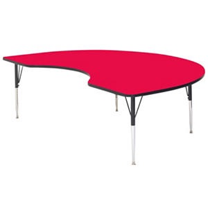 Correll 6' Kidney-Shaped Activity Table, Select Color