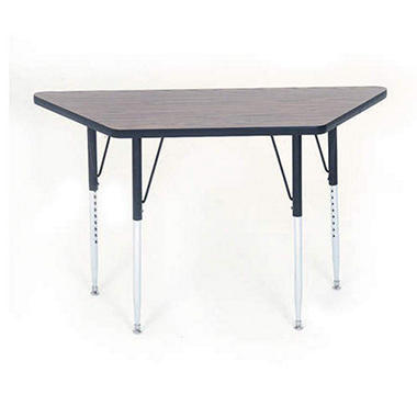 "Trapezoid-Shaped Table - 30"" x 60"""