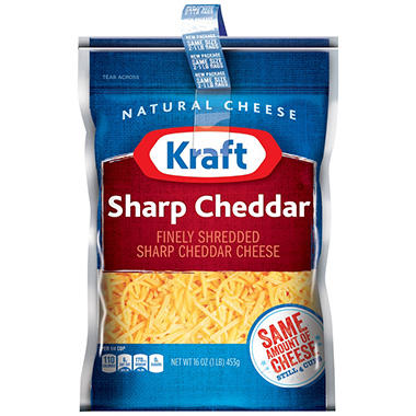 Kraft Sharp Cheddar Finely Shredded Cheese (16 oz., 2 pk.)