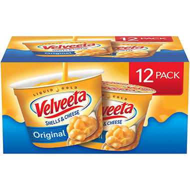 Velveeta Shells and Cheese, Single Serve Cups (2.39 oz. cups, 12 ct.)