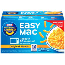 Kraft® Easy Mac Original Flavor Macaroni & Cheese Dinner - 18 ct.