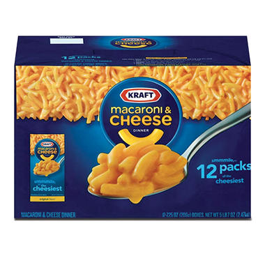 Kraft Macaroni & Cheese Dinner (7.25 oz. box, 12 pk.)