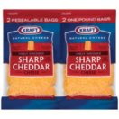 Kraft® Finely Shredded Sharp Cheddar Cheese - 16 oz. - 2 ct.