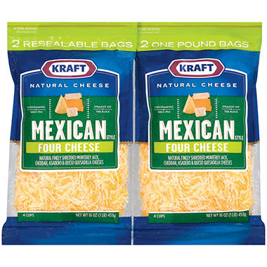 Kraft� Mexican Blend Shredded Cheese - 16 oz. - 2ct.