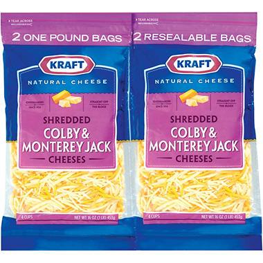 Kraft® Colby & Monterey Jack Shredded Cheese - 16 oz. - 2 ct.