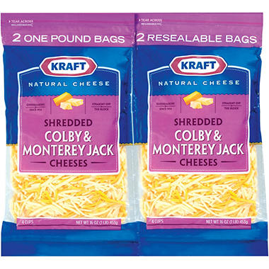 Kraft� Colby & Monterey Jack Shredded Cheese - 16 oz. - 2 ct.