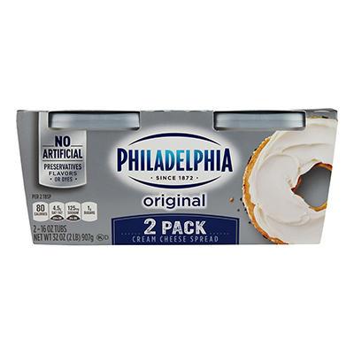 Kraft Philadelphia Regular Cream Cheese Spread - 16 oz. - 2 ct.