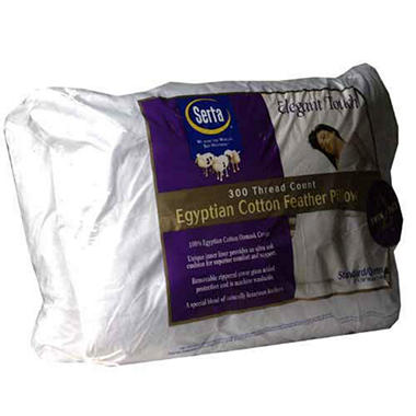 SERTA 2PK PILLOW STD/QUEEN SIZE