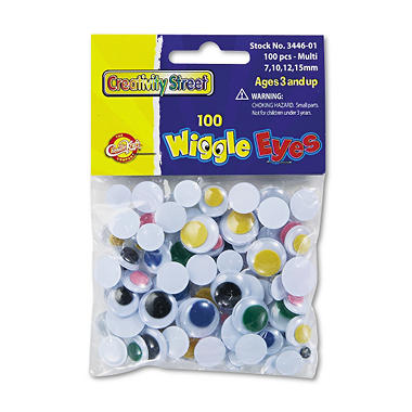 Wiggle Eyes Assortment, Assorted Colors 100 pk