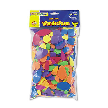 Wonderfoam Shapes, Assorted Shapes and Colors - 720 pk.