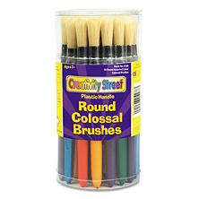 Chenille Kraft Round Colossal Brush, Natural Bristle, 30ct.