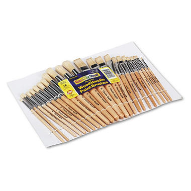 Chenille Kraft Round Wood Paint Brush Set
