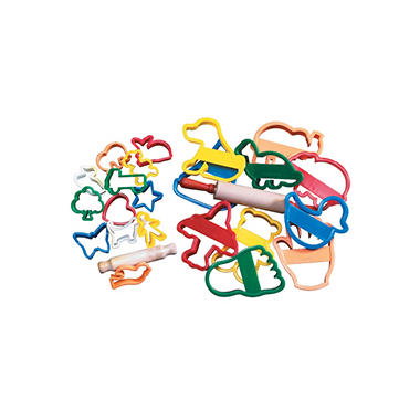 Creativity Street Junior Clay Cutters and Roller, 2 Inches, Set of 12