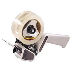 "Scotch - H180 Box Sealing Pistol Grip Tape Dispenser, 3"" Core, Plastic/Metal -  Gray"
