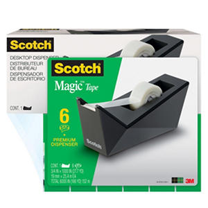 Scotch Magic Tape Dispenser with 6 Rolls of Scotch Magic Tape