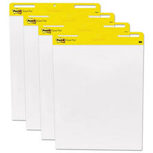 Post-It - Self-Stick Easel Pads, White, 30 Sheets - 4 Pack