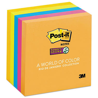 3M Post-it Super Sticky Plain Note Pads