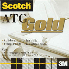 "Scotch ATG Gold Transfer Tape - .5""X36 Yards"